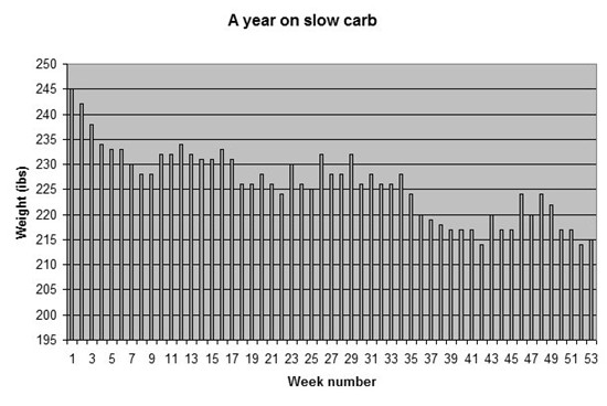 A year on slow carb